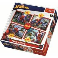 Trefl - Puzzle personaje Spiderman , Puzzle Copii ,  4 in 1, piese 207