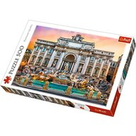 Trefl - Puzzle peisaje Fontanna di Trevi Roma , Puzzle Copii, piese 500, Multicolor