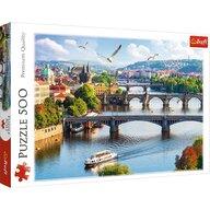 Trefl - Puzzle peisaje Orasul Praga , Puzzle Copii, piese 500