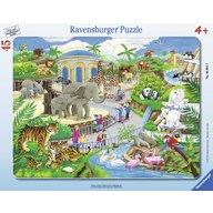 Ravensburger - Puzzle Vizita la zoo, 45 piese