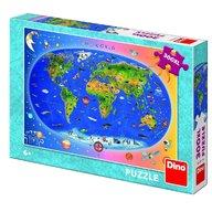 Dino - Toys - Puzzle XL Harta Lumii 300 piese