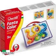 Quercetti - Joc creativ Fantacolor portabil, 160 piese