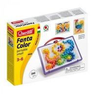 Joc creativ Fanta Color Portabil Quercetti creatie imagini mozaic, 160 piese