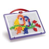 Joc creativ Fanta Color Portabil Quercetti creatie imagini mozaic, 100 piese patrate