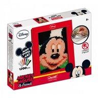 Quercetti - Joc creativ Mini Pixel Art tablou Mickey Mouse 1200 piese