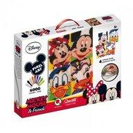 Quercetti - Joc creativ Pixel Art tablou Mickey Mouse si prietenii lui 6000 piese