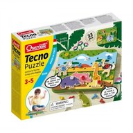 Quercetti - Joc creativitate si indemanare Tecno Puzzle Jungle Savana