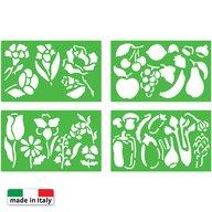 Quercetti - Set creativ pentru copii Sabloane Flora