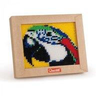 Quercetti - Set creativ pentru copii Mini Pixel Art Papagal
