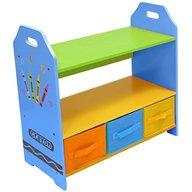 Style - Raft carti si jucarii cu cadru din lemn Blue Crayon