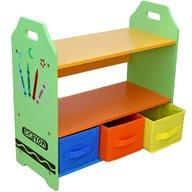 Style - Raft carti si jucarii cu cadru din lemn Green Crayon