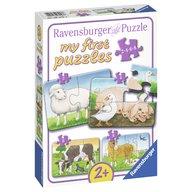 Ravensburger - Primul meu puzzle animale de la ferma, 2/4/6/8 piese