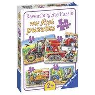 Ravensburger - Primul meu puzzle utilaje agricole, 2/4/6/8 piese