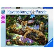 Ravensburger - Puzzle Familie de leoparzi, 1000 piese