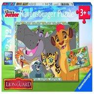 Ravensburger - Puzzle Garda felina, 2x12 piese