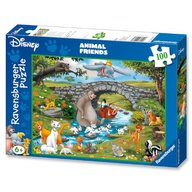 Ravensburger - Puzzle Lumea animalelor, 100 piese