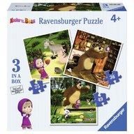 Ravensburger - Puzzle Masha si Ursul, 25/36/49 piese