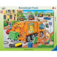 Ravensburger - Puzzle Masina de colectat gunoi, 35 piese