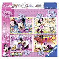 Ravensburger - Puzzle Minnie Mouse, 4 bucati in cutie, 12/16/20/24 piese