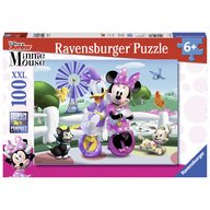 Ravensburger - Puzzle Minnie si Daisy, 100 piese