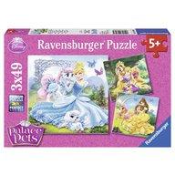 Ravensburger - Puzzle Palace pets, 3x49 piese
