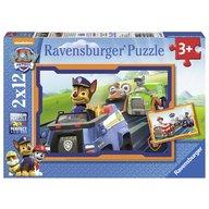 Ravensburger - Puzzle Patrula catelusilor in actiune, 2x12 piese