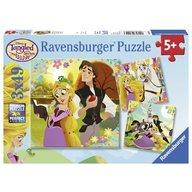 Ravensburger - Puzzle Rapunzel, 3x49 piese
