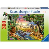 Ravensburger - Puzzle Seara in jungla, 300 piese