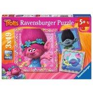 Ravensburger - Puzzle Trolls, 3x49 piese
