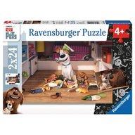 Ravensburger - Puzzle Viata secreta a animalelor, 2x24 piese