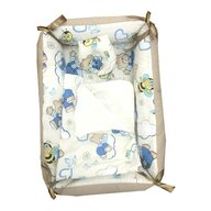 Deseda - Reductor Bebe Bed Nest cu paturica si pernuta antiplagiocefalie  Ursi cu albine pe crem