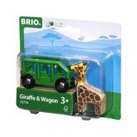 BRIO - Accesoriu Remorca , Cu girafa