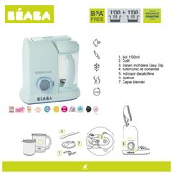 Beaba - Robot Babycook Colectia Macaron, Aquamarine