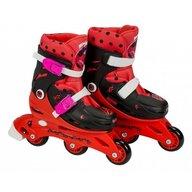 Saica - Role pentru copii cu 3 roti, Ladybug Buburuza Miraculoasa, marime reglabila 28-31, roti interschimbabile frana de picior
