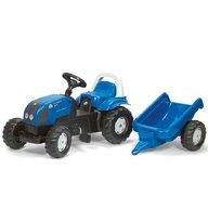 ROLLY TOYS Tractor Cu Pedale Si Remorca 011841 Albastru