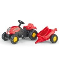 Rolly Toys Tractor cu pedale si remorca 012121 Rosu