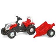 ROLLY TOYS Tractor Cu Pedale Si Remorca 012510 Alb Rosu