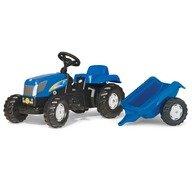 Rolly Toys Tractor cu pedale si remorca  013074 Albastru