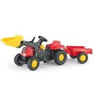 Rolly Toys Tractor cu pedale si remorca 023127 Rosu
