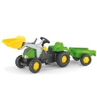 Rolly Toys Tractor cu pedale si remorca 023134 Verde
