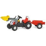 Rolly Toys Tractor cu pedale si remorca  023936 Alb Rosu