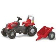Rolly Toys Tractor cu pedale si remorca 800315 Rosu