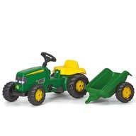 Rolly Toys Tractor cu pedale Si remorca copii  012190 Verde
