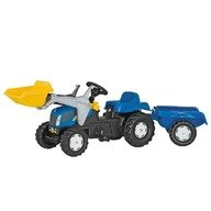 Rolly Toys Tractor cu pedale si remorca copii  023929 Blue