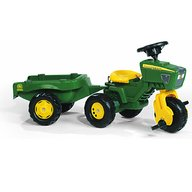 ROLLY TOYS Tractor Cu Pedale Si Remorca Copii 052769 Verde