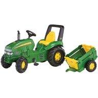 Rolly Toys Tractor cu pedale si remorca pentru copii  035762 Verde