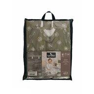 Lorelli - Sac de dormit fara maneci , Abstract Leaves din Bumbac, 80x47 cm, 0-9 luni, Bej/Gri