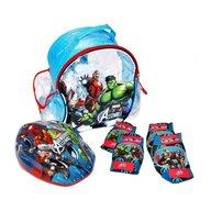 Saica - Set accesorii protectie bicicleta role trotineta Avengers
