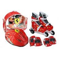 Saica - Set role cu accesorii protectie incluse Ferrari marimi reglabile 28-31