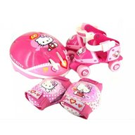 Saica - Set rotile Hello kitty pentru copii cu accesorii protectie si casca marimi reglabile 24-29